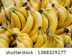 Clusters Of Yellow Ripe Bananas ...