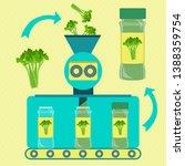 parsley powder line series... | Shutterstock .eps vector #1388359754