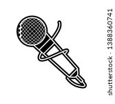 microphone icon. element of...