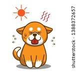 heat stroke and summer... | Shutterstock .eps vector #1388372657