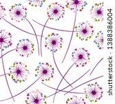 dandelion blowing plant vector...   Shutterstock .eps vector #1388386004