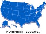 united states of america map in ... | Shutterstock .eps vector #13883917