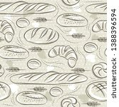 beige seamless patterns with... | Shutterstock .eps vector #1388396594