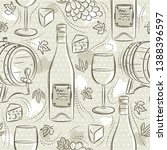 beige seamless patterns with... | Shutterstock .eps vector #1388396597