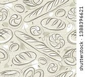beige seamless patterns with... | Shutterstock .eps vector #1388396621