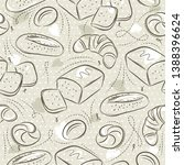 beige seamless patterns with... | Shutterstock .eps vector #1388396624