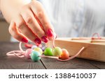 jewelry making and beading... | Shutterstock . vector #1388410037