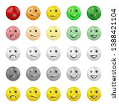 set of emoji flat icons. three... | Shutterstock .eps vector #1388421104