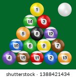 billiard balls triangle... | Shutterstock .eps vector #1388421434