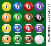 billiard  pool and snooker... | Shutterstock .eps vector #1388421437