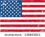 usa flag grunge. vector... | Shutterstock .eps vector #138843821