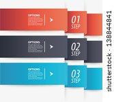 modern paper origami style... | Shutterstock .eps vector #138844841