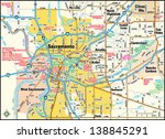 sacramento  california area map | Shutterstock .eps vector #138845291