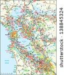 san francisco  california area... | Shutterstock .eps vector #138845324
