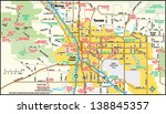 tucson  arizona area map | Shutterstock .eps vector #138845357