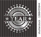 year silver shiny badge. vector ... | Shutterstock .eps vector #1388455844