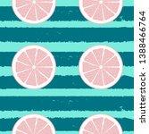 abstract citrus seamless... | Shutterstock . vector #1388466764