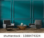 classic green blue turquoise... | Shutterstock . vector #1388474324