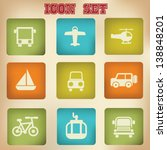 transport vintage icons vector | Shutterstock .eps vector #138848201