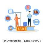 criminal case trial procedure... | Shutterstock .eps vector #1388484977