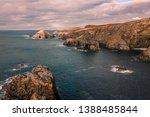 north stony coast  holes in the ... | Shutterstock . vector #1388485844
