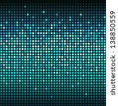 round shiny blue mosaic... | Shutterstock .eps vector #138850559