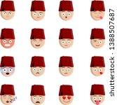 ottoman   turkish fez icon ... | Shutterstock .eps vector #1388507687