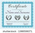 light blue certificate of... | Shutterstock .eps vector #1388508371