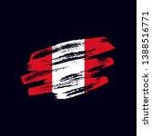 grunge textured peruvian flag....   Shutterstock .eps vector #1388516771