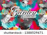vector beautiful greeting card...   Shutterstock .eps vector #1388529671