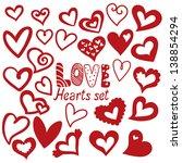 vector illustration of heart... | Shutterstock .eps vector #138854294