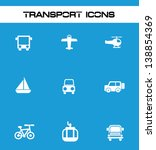transport icons vector | Shutterstock .eps vector #138854369