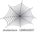 cobweb vector illustration.... | Shutterstock .eps vector #1388563037