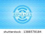 asparagus light blue water...   Shutterstock .eps vector #1388578184