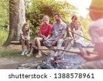 happy family and friends... | Shutterstock . vector #1388578961