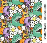 seamless pattern with cute... | Shutterstock .eps vector #1388583881