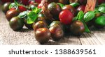 Striped Black Tomatoes With...