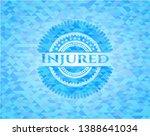 injured realistic sky blue...   Shutterstock .eps vector #1388641034