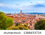 aerial cityscape of rome from...   Shutterstock . vector #1388653724