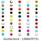 set of round circular shaped...