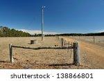 Farmland With Fences  Trough ...