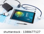 brain functionality report with ... | Shutterstock . vector #1388677127