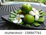 fresh tangerines - stock photo