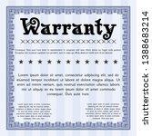 blue retro warranty template.... | Shutterstock .eps vector #1388683214