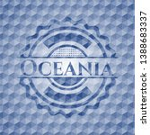 oceania blue hexagon emblem.... | Shutterstock .eps vector #1388683337