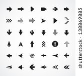 arrow sign silhouettes... | Shutterstock .eps vector #138869885