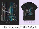 cyberpunk. dark future.... | Shutterstock .eps vector #1388719574