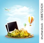 unusual 3d illustration of a...   Shutterstock . vector #1388722424