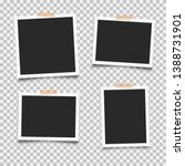 set of empty photo frames with... | Shutterstock .eps vector #1388731901
