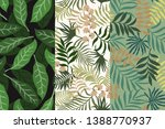 set of three tropical... | Shutterstock .eps vector #1388770937